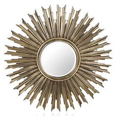 Embellish your walls with a sunburst mirror shining with texture and style . Z Gallerie Avila Mirror, $29.95