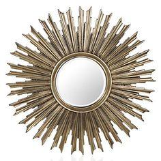 A stunning starburst mirror in a soft antique silver finish. Z Gallerie's Avila Mirror, $299.00