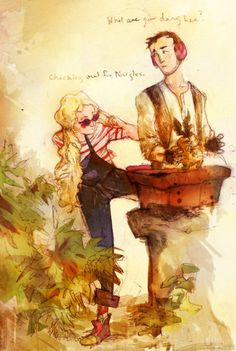 hunting nargles. I want to draw an entire SERIES of comic relationship moments with Luna and Neville. I LOVE THIS!!