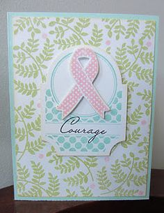 Breast Cancer Card - we could make these! @Jill Monas