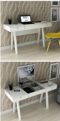 Diy Makeup Room Decor Home Office 27 Ideas For 2019 Home Office Decor, Diy Home Decor, Desk Office, Girls Bedroom, Bedroom Decor, Diy Casa, New Room, Room Inspiration, House Design