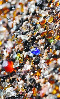 I SO LOVE THIS BEACH!!! It was an old dump and all the broken bottles make this beautiful glass sand! Glass Beach, Kauai
