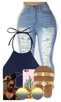 """""""Untitled #2605"""" by alisha-caprise ❤ liked on Polyvore featuring Forever 21, Casetify, J.Crew and Matthew Williamson"""