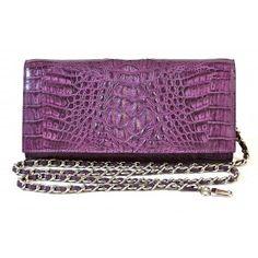 100% Handmade Genuine Exotic Leather Crocodile Skin Women Designer Clutch - MAIYA