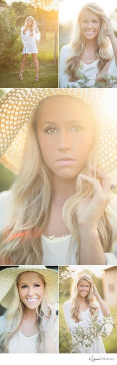 d-Squared Designs St. Louis, MO Senior Photography. Senior girl photography. Senior girl posing. Sunflare. Gorgeous blonde. Hat prop.