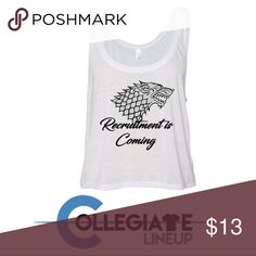 Recruitment shirt! Game of thrones https://www.thecollegiatelineup.com/live-sales/  Last chance!!   Password: fallrush2017. Go to the link to order!!! Tops