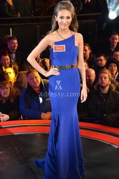 Megan McKenna Royal Blue Mermaid Formal Evening Prom Dress Big Brother 2016