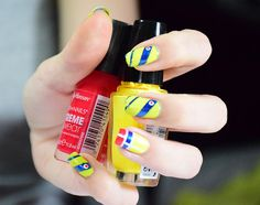 999 Unable to process request at this time -- error 999 Colombian Flag, Flag Nails, Mani Pedi, Nail Designs, Lily, Nail Art, Patriots, Ideas Para, Diana