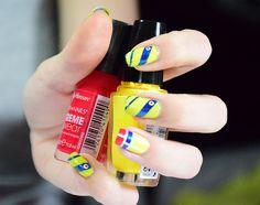Decoradas Bandera De Venezuela Nails Art Nails Colombia Y