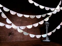 Seattle Scallops Map Garland  Ten Feet of Upcycled by Palimpsestic, $25.00 #wedding