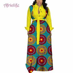 Autumn African Dresses for Women Fashion Office Style V neck Long Sleeve Midi Dress Bazin Riche African Print Clothing African Prom Dresses, Latest African Fashion Dresses, African Dresses For Women, African Women, Red Peplum Dresses, Plus Size Maxi Dresses, African Print Clothing, African Print Fashion, Kente Dress