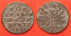 1695 Brandenburg - Preussen BRANDENBURG 6 Pfennig 1695 BH Minden FRIEDRICH III silver VF+ # 87765 VF+ Coin Prices, Friedrich, Minden, Coins, Personalized Items, Brandenburg, Bra, Silver