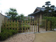Japanese garden bamboo fence