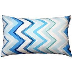 Pillow Decor Pacifico Stripes Blue Throw Pillow 12X20 (54 CAD) ❤ liked on Polyvore featuring home, home decor, throw pillows, blue chevron throw pillows, rectangular throw pillows, striped accent pillows, blue throw pillows and blue toss pillows