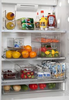 Organize your spaces with Clever Container organization solutions today! Refrigerator Organization, Kitchen Organization Pantry, Home Organisation, Container Organization, Diy Organization, Kitchen Storage, Organize Fridge, Organizing Ideas, Healthy Fridge