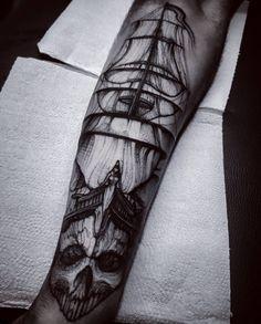 Ghost Ship Tattoo
