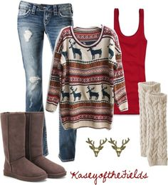 218ffe8c3ae7 Cute winter outfit ❤ Ugly Christmas Sweater