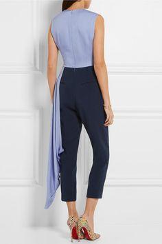 565ab22a4c1 Roksanda - Thurloe draped cutout crepe jumpsuit