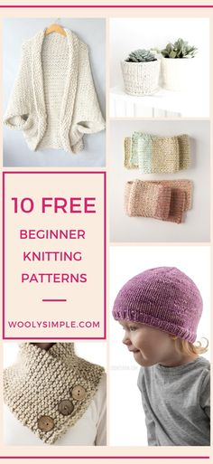 Free Beginner Knitting Patterns For Absolute Beginners Easy Patterns For * freie anfänger strickmuster für absolute anfänger einfache muster für * patrons de tricot gratuit pour débutants patrons faciles pour débutants absolus Beginner Knitting Projects, Knitting Blogs, Easy Knitting Patterns, Loom Knitting, Free Knitting, Easy Patterns, Crochet Patterns, Easy Knit Hat, Knitted Hats