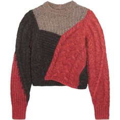f414524273 Étoile Isabel Marant Daryl color-block paneled knitted sweater ( 535) ❤  liked on