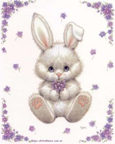 Shop Retro/Vintage Easter Bunny Holiday Card created by ZoeCalvertDesigns. Easter Art, Easter Crafts, Easter Bunny, Bunny Art, Cute Bunny, Cute Images, Cute Pictures, Ostern Wallpaper, Easter Pictures