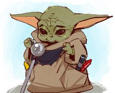 Fanart - His favourite toy. Star Wars Halloween, Halloween Night, Star Wars Fan Art, Star Wars Humor, Cute Disney, Mandalorian, Clone Wars, Belle Photo, Movie Stars