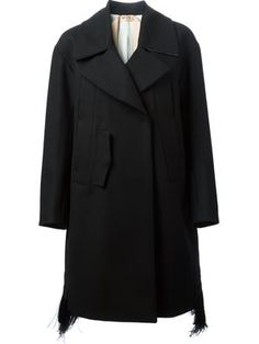 Nº21 feather hem coat