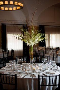 White and Green Wedding Flowers 275x413 Classic Emerald Green Washington DC Wedding Reception: Katelyn + Casey