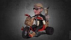 The Old Biker is a personal project that I'm making only for my portfolio. The concept is my and the work isn't ready yet. Awards 2017, My Portfolio, Biker, Old Things, Concept, Cartoon, 3d, Artwork, Character