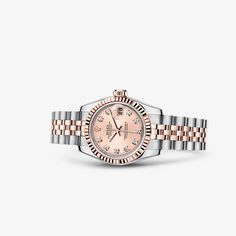Discover the Lady-Datejust 26 watch in Everose Rolesor - combination of 904L steel and 18 ct Everose gold on the Official Rolex Website. Model: 179171