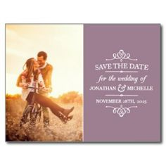 Simple Vintage Save the Date Post Cards