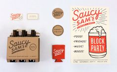 Saucy Sam's Branding and Packaging | Alex Register Design 美式風格小吧 Saucy Sam's | MyDesy 淘靈感