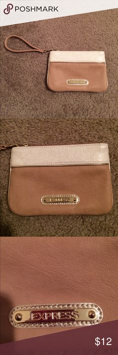 "$8 nwot express clutch tan and taupe sparkle Super cute! Never carried. ✔️the price in the beginning of the title of my listings is the bundle price. These prices are valid through the ""make an offer"" feature after you create a bundle. These bundle orders must be over $15. Ask me about more details if interested.  ❌No trades ❌No hold Express Bags Clutches & Wristlets"