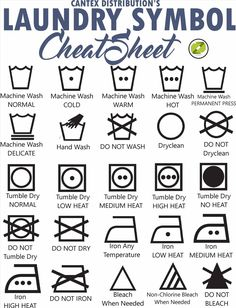 Laundry Symbols - Need help with wash care instructions? Here's Cantex Distribution's CHEAT SHEET! Laundry Room Sink, Laundry Room Storage, Washing Instruction Symbols, Unique Business Ideas, Laundry Symbols, Building Kitchen Cabinets, Towel Organization, Sign Meaning, Couches For Sale