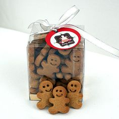 Mini gingerbread men would be nice Xmas week to go with tea's & coffees