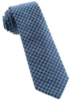 White Wash Houndstooth Ties - Blue   Ties, Bow Ties, and Pocket Squares   The Tie Bar