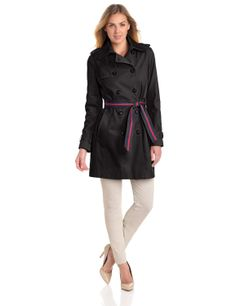 Tommy Hilfiger Women's Double Breasted Trench Coat with Striped Belt ($126.00) - http://www.amazon.com/exec/obidos/ASIN/B00CSKDIFO/hpb2-20/ASIN/B00CSKDIFO