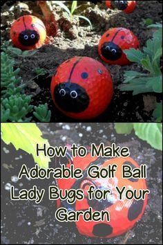 Got some old golf balls at home? Then recycle them and make a cute decoration for your garden!