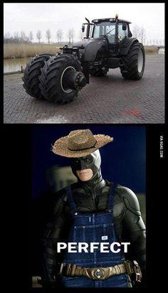It can even turn into a tank for when you might need one... on a farm.. #Batman http://www.superherostuff.com/characters/batman/batman_merchandise.html