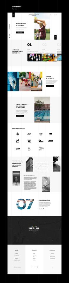 A fun project and non-official redesign of the school website, based on the corporate design, I made for the school.: