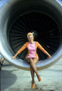 Stewardesses in Jet Engines
