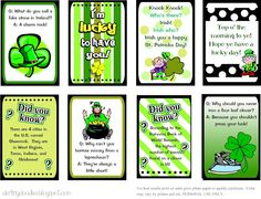 St. Patrick's Day notes and jokes