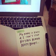 blank notebook addiction