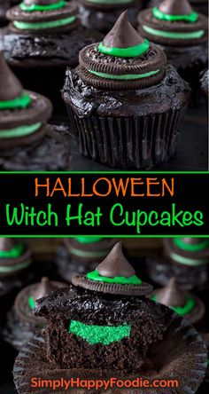 Hallowen Party Halloween Witch Hat Cupcakes are a dark and spooky treat for all of the little w. , Halloween Witch Hat Cupcakes are a dark and spooky treat for all of the little w. Halloween Witch Hat Cupcakes are a dark and spooky treat for all o. Halloween Snacks, Halloween Cupcakes, Hallowen Food, Halloween Themed Food, Halloween Witch Hat, Fete Halloween, Easy Halloween, Witch Hats, Halloween Decorations Inside