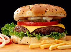 BEEF-BURGER-Recipe: How to Make Beef Burger at Home. If you are hungry but you do not want to have heavy food then you can have a beef burger. This is not heavy food, rich fast food actually but will relief you from hunger. Menu Burger, Burger And Fries, Burger Barn, Gourmet Burgers, The Best Burger, Good Burger, Yummy Burger, Burger Night, Junk Food