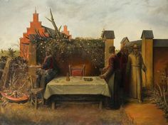 Albert Houthuesen – The Supper at Emmaus, 1927; Oil on canvas, 89x120 cm | The Potteries Museum & Art Gallery