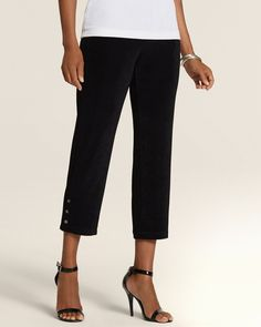Chico's Women's Travelers Classic Grommet Crop