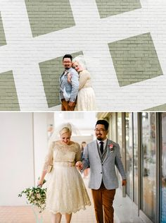 Stylish bride and groom // Ferdi and Michelle's Effortlessly Cool Wedding at Wanderlust Hotel