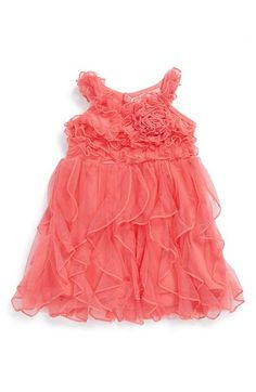 Popatu 'Wave' Soutache Ruffle Dress (Baby Girls) available at #Nordstrom