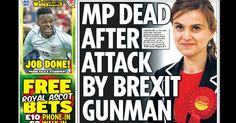 Daily Star Newspaper Links Gunman To Brexit